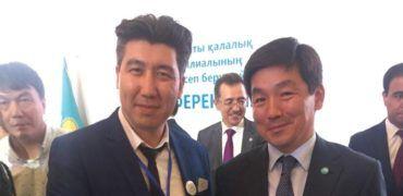 Аким г. Алматы Байбек Б.К. и Руководитель ЮК Закон и Право Галымжан Саржанов